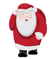 Tired Santa after new years celebration vector image vector image