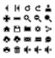 user interface icon set vector image vector image