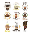 vintage coffeeshop logo text labels and vector image vector image