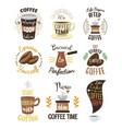 vintage coffeeshop logo text labels vector image