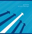 white arrow leading business concept design vector image