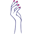 woman hands collection vector image vector image