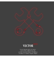 Wrench tool to work Flat modern web button and vector image