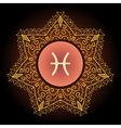 zodiac sign The Fish pisces vector image