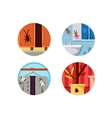 Household vermin set icons vector image