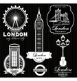 set of patterns with London attractions vector image