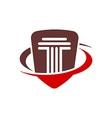 Law balance symbol justice scales icon on stylish vector image