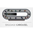 The modern baggage carousel construction vector image