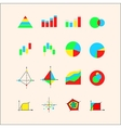 Icons for graphs and charts vector image