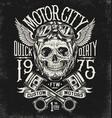 motorcycle skull with helmet vector image