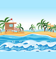 a summer beach background vector image