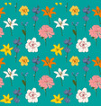 abstract hand drawn flower seamless pattern vector image