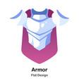 armor flat icon vector image vector image