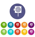 Arrow in the center of target set icons vector image vector image