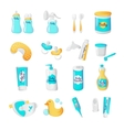 baaccessories icons cartoon style vector image
