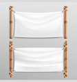 bamboo frame with realistic paper background for vector image vector image
