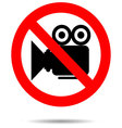 Ban video icon sign vector image