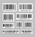 bar code set abstract product bar codes vector image vector image