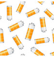 battery level indicator seamless pattern vector image vector image