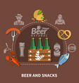 beer flat vector image vector image