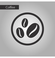 black and white style bean coffee logo vector image
