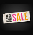 black friday season sale vector image
