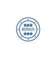 bonus coin line icon concept bonus coin flat vector image vector image