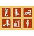 builder with construction equipment vector image vector image