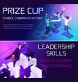 business concept isometrics achieving the goal vector image vector image