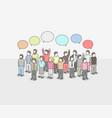 business social networking and communication vector image vector image