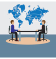 Businesspeople sitting at the table Negotiations d vector image vector image