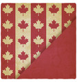 canadian flag symbols vintage background vector image vector image