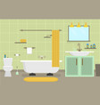 cartoon clean bathroom for cleaning room service vector image vector image