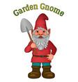 cartoon garden gnome vector image