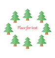 christmas trees on a white background with vector image vector image