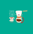 coffee brewing methods dripper filter pour vector image vector image