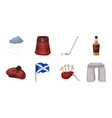 country scotland icons in set collection for vector image vector image