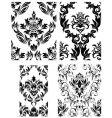 damask patterns set