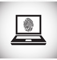 device finger print access on white background for vector image
