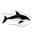 dolphin hand drawn stock vector image