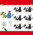 educational shadow game with monsters vector image vector image