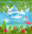 enjoy tropical summer background vector image vector image