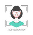 face recognition concept face recognition concept vector image