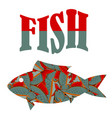 fish pattern text vector image vector image