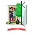 flat of policeman catching vector image vector image