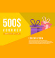 gift voucher template design collection vector image vector image