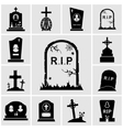 Gravestones icons set vector image