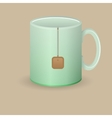 green tea mug vector image
