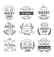 Hand Drawn Bakery Label Set vector image