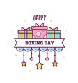 happy boxing day vector image vector image